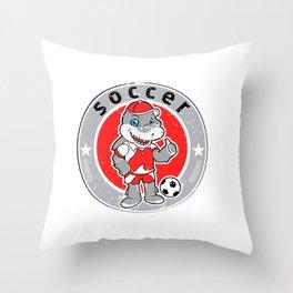 Shark mascot football team logo Throw Pillow