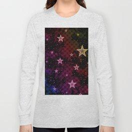 Rainbow Neon Stars Long Sleeve T-shirt