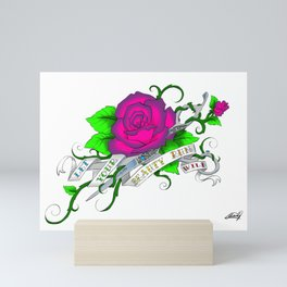 Let your beauty run wild Mini Art Print
