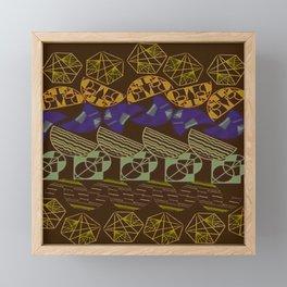 Facetnating Darkmode Geometric Shapes Framed Mini Art Print