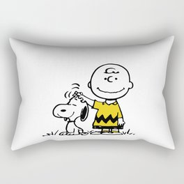 Charly and snoopy Rectangular Pillow