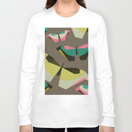 Neon Butterflies Long Sleeve T-shirt