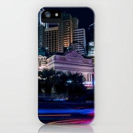 Light Streaks in Las Vegas, USA / Night City Series iPhone Case