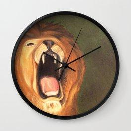 Lion Roar in the Jungle Wall Clock