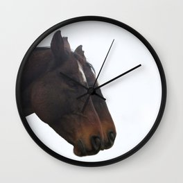 Twin Horses Photography Print Wall Clock