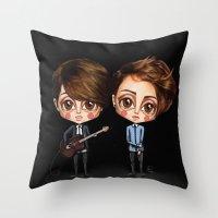 tegan and sara Throw Pillows featuring Tegan and Sara by Joana Pereira