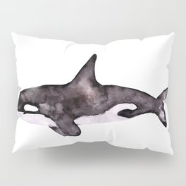 Watercolor Orca Killer Whale Pillow Sham