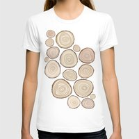 tree rings T-shirts featuring Tree Rings by Jackie Sullivan