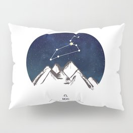 Astrology Leo Zodiac Horoscope Constellation Star Sign Watercolor Poster Wall Art Pillow Sham