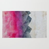 concrete Area & Throw Rugs featuring Pink Concrete by cafelab