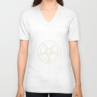 pentagram V-neck T-shirts featuring Pentagram by Corpse inc