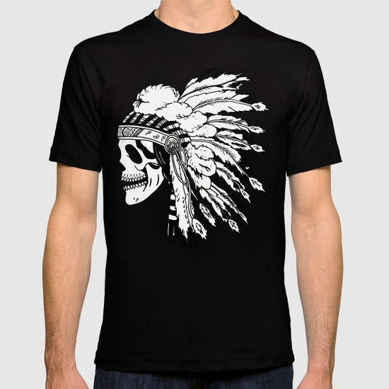 Black and White Native American  T-shirt