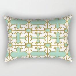 Luxury gold mandalas on GREEN artwork Rectangular Pillow