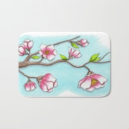 Almond Tree Bath Mat
