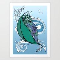 Dragons  Art Print