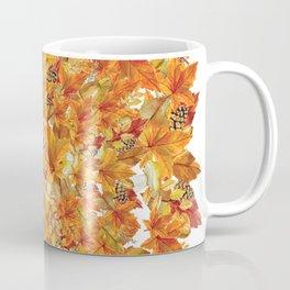 Autumn leaves - Acorn, clubs - Pine cones Coffee Mug