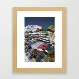 Flags at Throng La Framed Art Print