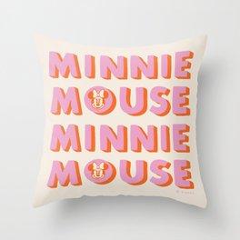 """Minnie Mouse"" by Morgan Sevart Throw Pillow"