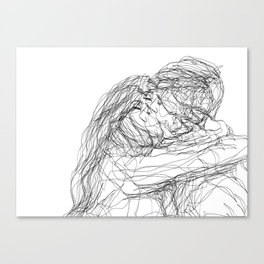 make-out? (B & W) Canvas Print