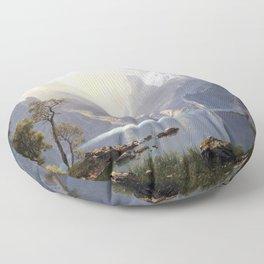 Albert Bierstadt In the Sierras Lake Tahoe Floor Pillow