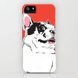 Boston Terrier Side-Eye iPhone Case