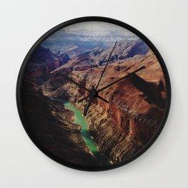 The Colorado Runs Through Marble Canyon Wall Clock