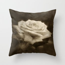 Pink Roses in Anzures 3 Antiqued Throw Pillow