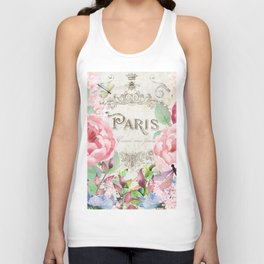 Paris Flower Market III Unisex Tank Top