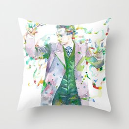 RICHARD STRAUSS - watercolor portrait.1 Throw Pillow