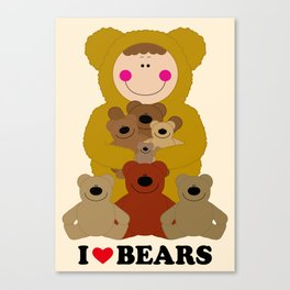 I♥BEARS Canvas Print