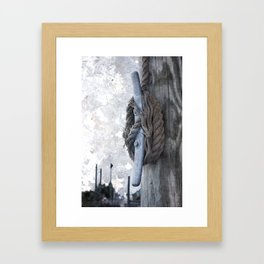 Worn Rope on Cleat Framed Art Print