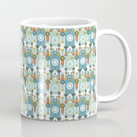 robots Mugs featuring robots by Mr. Morris can Meow!