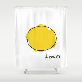 Lemon Shower Curtain