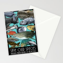 Save Our Species: Vanishing Ocean Animals of the World Stationery Cards