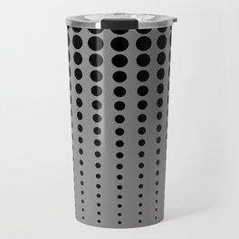 Reduced Black Polka Dots Pattern on Solid Pantone Pewter Background Travel Mug