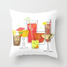 Swanky Summer Coolers Throw Pillow