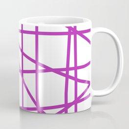 Doodle (Purple & White) Coffee Mug