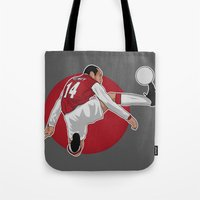arsenal Tote Bags featuring Thierry Henry by siddick49
