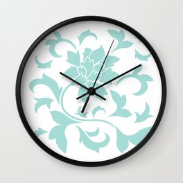 Oriental Flower - Limpet Shell On White Background Wall Clock