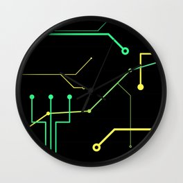 Techno Design Wall Clock
