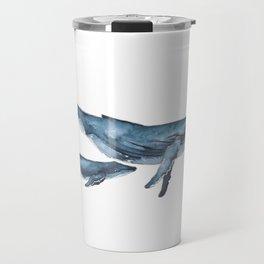 Whale & whale calf Travel Mug
