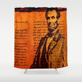 Abraham Lincoln and the Gettysburg Address Shower Curtain