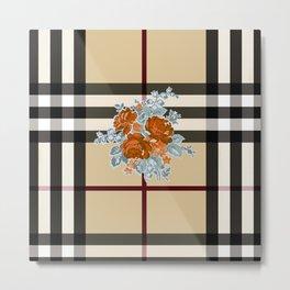 Flower in brown pattern Metal Print