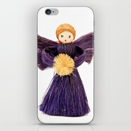 Christmas angel iPhone Skin