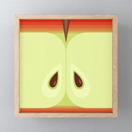 Red Sliced Apple Framed Mini Art Print