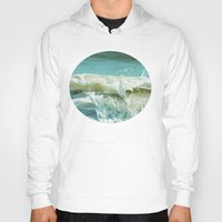 wave Hoodies featuring Wave by Bella Blue Photography