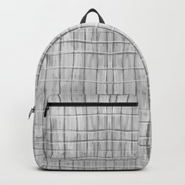 Soft Gray Plaid Backpack