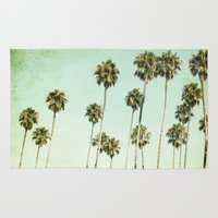 palm trees Area & Throw Rugs featuring palm trees by Mareike Böhmer