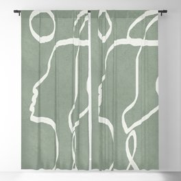 Abstract Faces Blackout Curtain