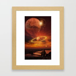 The Planets Cosmos Girl by GEN Z Framed Art Print